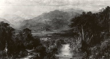 William Forrest (American, born Edinburgh, (1805-1899)). Mountainous Landscape, 1862. Steel engraving, 21 7/8 x 31 in. (55.6 x 78.8 cm). Brooklyn Museum, Gift of the Pierrepont family, 41.62