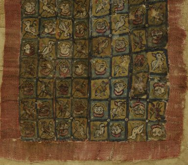 Coptic. Tapestry, 6th Century C.E. Flax, wool, 11 1/4 x 7 3/4 in. (28.6 x 19.7 cm). Brooklyn Museum, Gift of Pratt Institute, 41.791. Creative Commons-BY