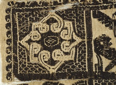 Coptic. Tapestry, 6th-7th century C.E. Flax, wool, 6 x 6 in. (15.2 x 15.2 cm). Brooklyn Museum, Gift of Pratt Institute, 41.793. Creative Commons-BY