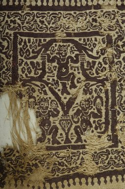 Coptic. Square in Tapestry Weave, 4th-5th century C.E. Flax, wool, 9 1/2 x 9 1/2 in. (24.1 x 24.1 cm). Brooklyn Museum, Gift of Pratt Institute, 41.795. Creative Commons-BY