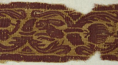 Coptic. Tapestry Woven Band, 4th-5th century C.E. Flax, wool, 17 1/4 x 3 1/4 in. (43.8 x 8.3 cm). Brooklyn Museum, Gift of Pratt Institute, 41.797. Creative Commons-BY