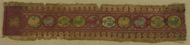 Coptic. Fragmentary Band, 7th century C.E. Flax, wool, 3 1/2 x 16 7/8 in. (8.9 x 42.9 cm). Brooklyn Museum, Gift of Pratt Institute, 41.799. Creative Commons-BY