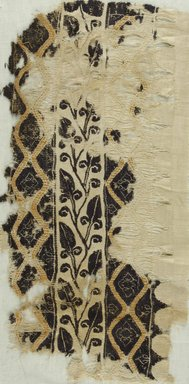 Coptic. Band with Heart Shaped Leaves, 4th-5th century C.E. Flax, wool, 19 3/4 x 10 in. (50.2 x 25.4 cm). Brooklyn Museum, Gift of Pratt Institute, 41.801. Creative Commons-BY