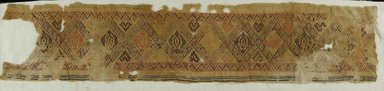 Coptic. Strip with Inlaid Design, 5th-6th century C.E. Flax, wool, 30 3/4 x 6 1/2 in. (78.1 x 16.5 cm). Brooklyn Museum, Gift of Pratt Institute, 41.804. Creative Commons-BY