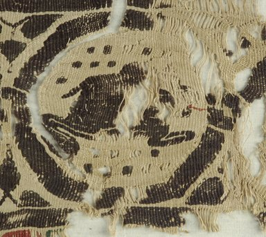 Coptic. Band with Running Animals, 5th century C.E. Flax, wool, 9 1/4 x 18 1/4 in. (23.5 x 46.4 cm). Brooklyn Museum, Gift of Pratt Institute, 41.805. Creative Commons-BY