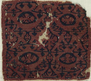 Coptic. Square Fragment, 6th-7th century C.E. Flax, wool, 5 3/4 x 6 1/8 in. (14.6 x 15.6 cm). Brooklyn Museum, Gift of Pratt Institute, 41.808. Creative Commons-BY