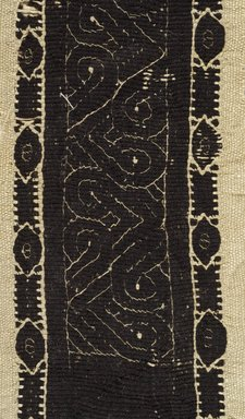 Coptic. Tapestry Woven Border, 3rd-4th century C.E. Flax, wool, 18 x 3 1/2 in. (45.7 x 8.9 cm). Brooklyn Museum, Gift of Pratt Institute, 41.811. Creative Commons-BY