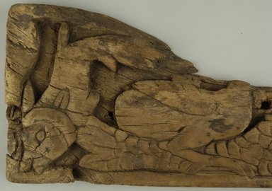Coptic. Framentary Oblong Relief Panel, 5th century C.E. Wood, 6 3/4 x 1 1/16 x 14 1/16 in. (17.1 x 2.7 x 35.7 cm). Brooklyn Museum, Gift of Nasli Heeramaneck, 41.978. Creative Commons-BY