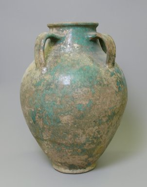 Large Jar, 12th-13th century. Glazed pottery, 14 13/16 x 10 3/8 in. (37.6 x 26.4 cm). Brooklyn Museum, Gift of Mary T. Cockcroft, 42.109.1. Creative Commons-BY