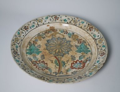 Plate, 17th century. Pottery, 2 5/16 x 13 5/8 in. (5.9 x 34.6 cm). Brooklyn Museum, Gift of Mrs. Horace O. Havemeyer, 42.212.33. Creative Commons-BY