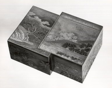 Small Box and Cover, 1650. lacquer, 1 5/8 x 3 1/16 x 4 in. (4.1 x 7.7 x 10.2 cm). Brooklyn Museum, Gift of Mrs. Horace O. Havemeyer, 42.212.51a-b. Creative Commons-BY