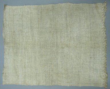 American. Towel, late 18th-early 19th century. Coarse-woven linen, 14 3/4 x 18 1/2 in. (37.5 x 47 cm). Brooklyn Museum, Gift of Elsie O. Hincken, 42.291. Creative Commons-BY
