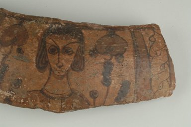 Coptic. Jar Fragment, 6th century C.E. Clay, slipped and painted, 3 3/4 x 11 x 9/16 in. (9.5 x 28 x 1.5 cm). Brooklyn Museum, By exchange, 42.409. Creative Commons-BY