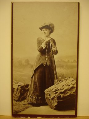 Alva Pearsall (American, 1839-1893). [Mrs. Grant, formerly Helen Wolcott], ca. 1879. Sepia toned, Mount (cardboard): 12 1/4 x 7 in. (31.1 x 17.8 cm). Brooklyn Museum, Gift of Marion Grant, 43.1.15