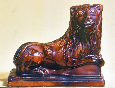 American. Doorstop, 1850-1860. Glazed Earthenware , 9 x 4 3/4 x 11 in. (22.9 x 12.1 x 27.9 cm). Brooklyn Museum, Gift of Arthur W. Clement, 43.128.201. Creative Commons-BY