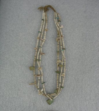 Pueblo (unidentified) (Native American). Necklace, 18th century. Shell, stones, 26 in. (66 cm). Brooklyn Museum, Gift of Percy Jackson, 43.156.8. Creative Commons-BY
