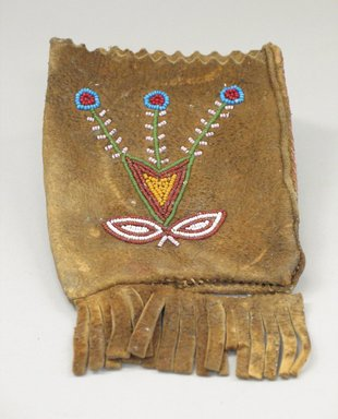 Montagnais. Small Rectangular Bag, 20th century. Tanned hide, beads, 7 1/16 x 4 5/16 in. (18 x 11 cm). Brooklyn Museum, Anonymous gift in memory of Dr. Harlow Brooks, 43.201.14. Creative Commons-BY