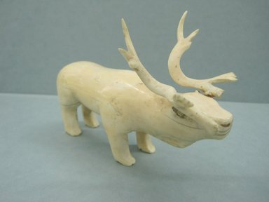Siberian Yupik. Carving of a Reindeer, nineteenth century. Ivory, 6 x 4 x 2 3/4 in. or (15.5 x 9.5 cm). Brooklyn Museum, Anonymous gift in memory of Dr. Harlow Brooks, 43.201.260. Creative Commons-BY