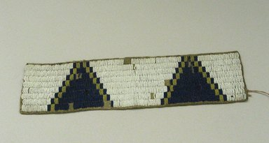 Sioux (Native American). Beaded Band, 1900-1940. Beads, hide, 12 5/8 x 3 1/8 in. (32.1 x 7.9 cm). Brooklyn Museum, Anonymous gift in memory of Dr. Harlow Brooks, 43.201.48. Creative Commons-BY