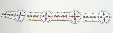 Possibly Sarcee (Native American). Blanket Strip. Hide, beads, 70 7/8 x 8 11/16 in.  (180 x 22 cm). Brooklyn Museum, Anonymous gift in memory of Dr. Harlow Brooks, 43.201.62. Creative Commons-BY