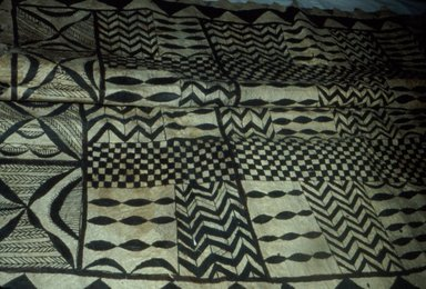 Tapa Cloth, late 19th-mid 20th century. Bark cloth, pigment, 63 9/16 x 51 3/16 in. (161.5 x 130 cm). Brooklyn Museum, Gift of Serge A. Korff, 43.218.2. Creative Commons-BY