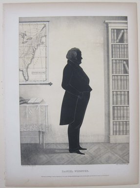 Edmond Burke Kellogg (American, 1809-1872). Portrait Gallery of Distinguished American Citizens: Daniel Webster, 1844. Lithograph, Sheet: 16 13/16 x 12 3/8 in. (42.7 x 31.5 cm). Brooklyn Museum, Dick S. Ramsay Fund, 43.83.21