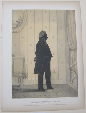 Edmond Burke Kellogg (American, 1809-1872). Portrait Gallery of Distinguished American Citizens: Nathaniel Potter Tallmadge, 1844. Lithograph, Sheet: 16 13/16 x 12 3/8 in. (42.7 x 31.5 cm). Brooklyn Museum, Dick S. Ramsay Fund, 43.83.24