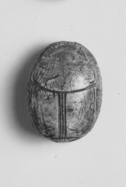 Scarab. Steatite, glazed, 11/16 x 1/2in. (1.8 x 1.3cm). Brooklyn Museum, Charles Edwin Wilbour Fund, 44.123.164. Creative Commons-BY