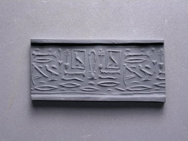 Cylinder Seal. Ivory, 13/16 x 7/16 in. (2.1 x 1.1 cm). Brooklyn Museum, Charles Edwin Wilbour Fund, 44.123.24. Creative Commons-BY