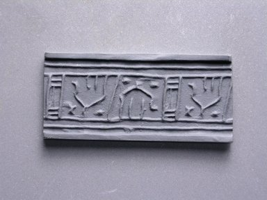 Cylinder Seal. Faience, glazed, 3/4 x 5/16 in. (1.9 x 0.8 cm). Brooklyn Museum, Charles Edwin Wilbour Fund, 44.123.43. Creative Commons-BY