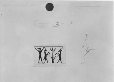 Ancient Near Eastern. Cylinder Seal, end of 2nd millennium-beginning of 1st millennium B.C.E. Bone, 13/16 x Diam. 7/16 in. (2.1 x 1.1 cm). Brooklyn Museum, Charles Edwin Wilbour Fund, 44.123.49. Creative Commons-BY