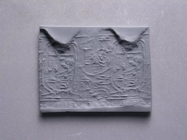 Cylinder Seal. Steatite, glazed, 1 1/8 x 1/4 in. (2.9 x 0.7 cm). Brooklyn Museum, Charles Edwin Wilbour Fund, 44.123.63. Creative Commons-BY