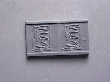 Cylinder Seal. Steatite, glazed Brooklyn Museum, Charles Edwin Wilbour Fund, 44.123.72. Creative Commons-BY
