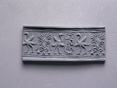 Cylinder Seal. Steatite, glazed, 11/16 x 5/16 in. (1.8 x 0.8 cm). Brooklyn Museum, Charles Edwin Wilbour Fund, 44.123.82. Creative Commons-BY