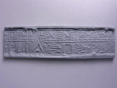 Cylinder Seal. Steatite, 1 1/4 x 1 1/4 in. (3.2 x 3.1 cm) . Brooklyn Museum, Charles Edwin Wilbour Fund, 44.123.8. Creative Commons-BY