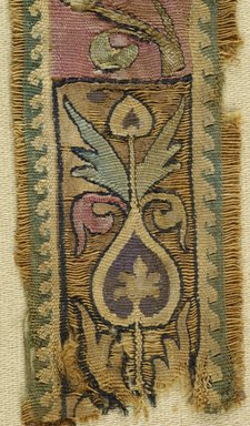 Coptic. Fragmentary Band, 5th century C.E. Flax?, wool?, 6 1/2 x 1 3/4 in. (16.5 x 4.4 cm). Brooklyn Museum, Charles Edwin Wilbour Fund, 44.143e. Creative Commons-BY