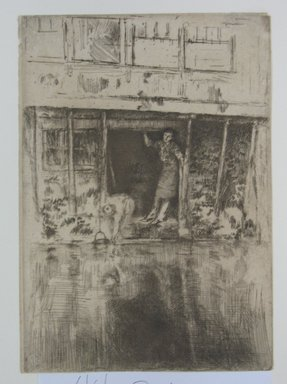 James Abbott McNeill Whistler (American, 1834-1903). Pierrot. Etching, 9 1/8 x 6 7/16 in. (23.2 x 16.4 cm). Brooklyn Museum, Gift of Mr. and Mrs. Horace B. Havemeyer, 44.2.1