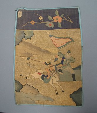 Panel. Silk, 9 13/16 x 14 3/16 in. (25 x 36 cm). Brooklyn Museum, Gift of Francis F. Randolph, J. Ogden Bulkley, and David T. Bulkley, 44.61.14. Creative Commons-BY