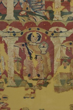Coptic. Figures in Niches or Arcades, 6th-8th century C.E. (probably). Wool, a): 58 3/8 x 40 9/16 in. (148.2 x 103 cm). Brooklyn Museum, Charles Edwin Wilbour Fund, 46.128a-b. Creative Commons-BY