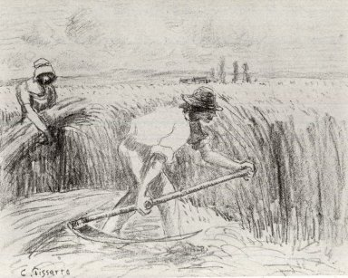Camille Jacob Pissarro (French, 1830-1903). Faucheur, ca. 1894. Lithograph on zinc on Ingres paper affixed to wove paper, 9 3/8 x 12 in. (23.8 x 30.5 cm). Brooklyn Museum, Museum Collection Fund, 46.131.2