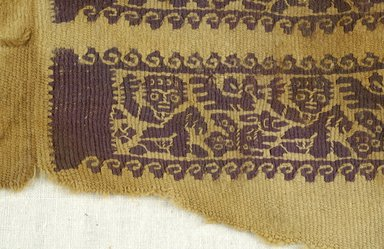 Coptic. Sleeve Band, 7th century C.E. (probably). Linen, wool, 4 3/4 x 12 1/16 in. (12 x 30.7 cm). Brooklyn Museum, Gift of Pratt Institute, 46.157.10. Creative Commons-BY