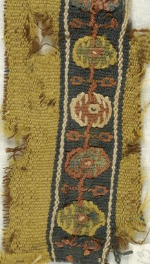 Coptic. Tapestry Band, 7th century C.E. Linen, wool, 1 15/16 x 6 1/8 in. (5 x 15.5 cm). Brooklyn Museum, Gift of Pratt Institute, 46.157.13. Creative Commons-BY