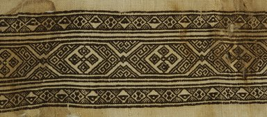 Coptic. Fragment of Linen with Border, 7th-9th century C.E. Linen, silk, 9 1/16 x 21 5/8 in. (23 x 55 cm). Brooklyn Museum, Gift of Pratt Institute, 46.157.18. Creative Commons-BY