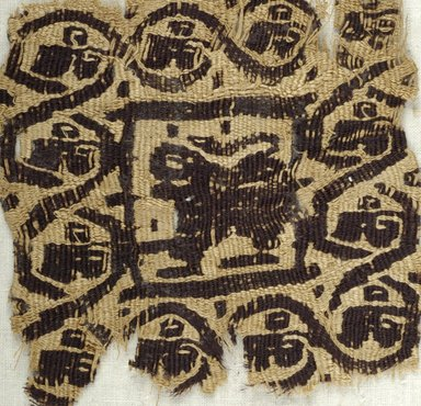 Coptic. Small Tapestry Square, 4th- 5th century C.E. Linen, wool, 3 9/16 x 3 9/16 in. (9 x 9 cm). Brooklyn Museum, Gift of Pratt Institute, 46.157.24. Creative Commons-BY