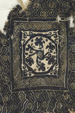 Coptic. Large Tapestry Woven Square, 3rd-4th century C.E. Linen, wool, 9 1/16 x 7 1/2 in. (23 x 19 cm). Brooklyn Museum, Gift of Pratt Institute, 46.157.26. Creative Commons-BY