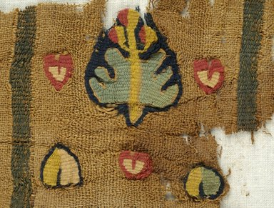 Coptic. Fragment of Border, 5th century C.E. Flax, wool, 8 11/16 x 4 1/2 in. (22 x 11.5 cm). Brooklyn Museum, Gift of Pratt Institute, 46.157.3. Creative Commons-BY
