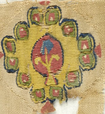 Brooklyn Museum: Fragment of Linen Cloth with Tapestry Woven Inserts