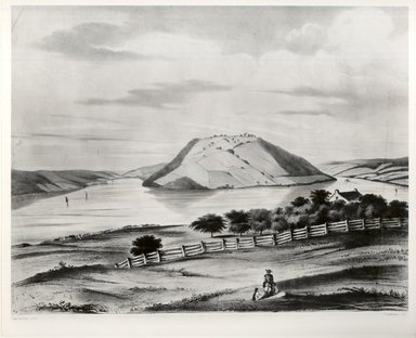 Frederick Swinton (American, 1821-1910). Bluff Point, ca. 1860. Lithograph on wove paper, Image: 13 3/8 x 17 11/16 in. (34 x 45 cm). Brooklyn Museum, Dick S. Ramsay Fund, 46.186.2