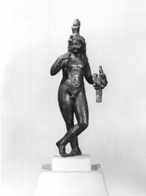 Brooklyn Museum: Standing Statuette of Harpocrates in the Greek Style