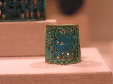 Ring, ca. 1070-718 B.C.E. Faience, glazed, 1 x 1 in. (2.6 x 2.6 cm). Brooklyn Museum, Charles Edwin Wilbour Fund, 48.203. Creative Commons-BY
